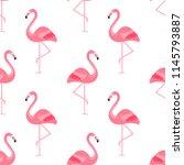 flamingo bird background  ...   Shutterstock .eps vector #1145793887