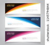 vector abstract design banner... | Shutterstock .eps vector #1145794844
