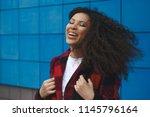 young happy caucasian girl...   Shutterstock . vector #1145796164