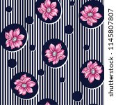 flower pattern on stripe | Shutterstock .eps vector #1145807807