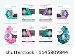 set of design of brochure ...   Shutterstock .eps vector #1145809844