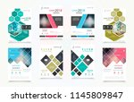 abstract vector business... | Shutterstock .eps vector #1145809847