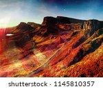 mountain sunset at isle of skye ... | Shutterstock . vector #1145810357