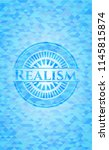 realism light blue emblem with... | Shutterstock .eps vector #1145815874