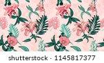 original trendy seamless... | Shutterstock . vector #1145817377