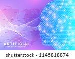 futuristic artificial... | Shutterstock .eps vector #1145818874