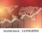 stock market or forex trading... | Shutterstock .eps vector #1145818904