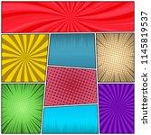 pop art colorful background... | Shutterstock .eps vector #1145819537