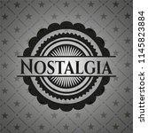 nostalgia black emblem | Shutterstock .eps vector #1145823884