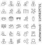 thin line vector icon set  ... | Shutterstock .eps vector #1145829731