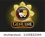 shiny emblem with baby cart... | Shutterstock .eps vector #1145832344