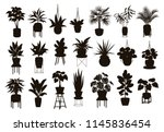 silhouettes collection of ... | Shutterstock .eps vector #1145836454