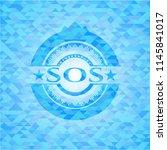 sos realistic sky blue mosaic... | Shutterstock .eps vector #1145841017