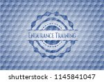 endurance training blue badge... | Shutterstock .eps vector #1145841047