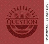 question red emblem | Shutterstock .eps vector #1145841197