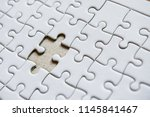 close up of the last jigsew... | Shutterstock . vector #1145841467