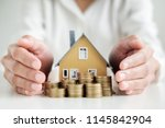 saving money for house and real ... | Shutterstock . vector #1145842904