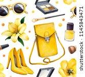 illustrations of make up... | Shutterstock . vector #1145843471