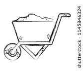 grunge construction sand inside ... | Shutterstock .eps vector #1145846324