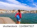 tourist woman in cadaques ...   Shutterstock . vector #1145847317