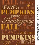 happy thanksgiving day card.... | Shutterstock .eps vector #114585244