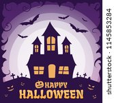 happy halloween background | Shutterstock .eps vector #1145853284