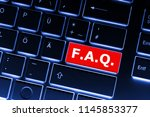 faq or frequently asked... | Shutterstock . vector #1145853377