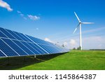 wind generator of electricity... | Shutterstock . vector #1145864387