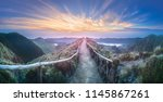 mountain landscape with hiking...   Shutterstock . vector #1145867261