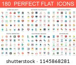 180 modern flat icons set of... | Shutterstock . vector #1145868281