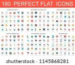 180 modern flat icons set of... | Shutterstock . vector #1145868281