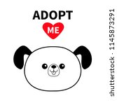 adopt me. dont buy. contour dog ... | Shutterstock .eps vector #1145873291