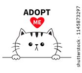 adopt me. dont buy. cat face... | Shutterstock .eps vector #1145873297