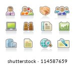 business icons | Shutterstock .eps vector #114587659