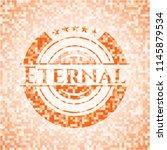eternal abstract orange mosaic... | Shutterstock .eps vector #1145879534