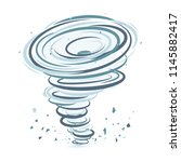 simple graphic hurricane or... | Shutterstock .eps vector #1145882417