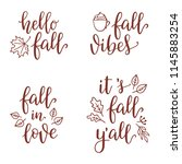 inspirational fall calligraphy... | Shutterstock .eps vector #1145883254