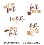set of hand written lettering... | Shutterstock .eps vector #1145883257