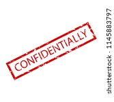 confidentially rubber stamp.... | Shutterstock . vector #1145883797