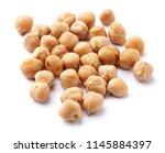 pile of chickpeas on white | Shutterstock . vector #1145884397