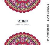 mandala background design | Shutterstock .eps vector #1145885021
