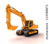 Excavator On A White Background ...