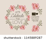 lets celebrate the love card... | Shutterstock .eps vector #1145889287