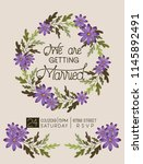 wedding invitation card with... | Shutterstock .eps vector #1145892491