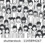 group of young people characters | Shutterstock .eps vector #1145894267