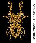 golden jewelry bug    Shutterstock . vector #1145894327