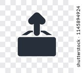 upload vector icon isolated on... | Shutterstock .eps vector #1145894924