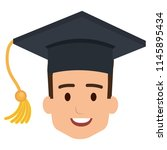 head student graduation with... | Shutterstock .eps vector #1145895434