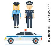 police officer character.... | Shutterstock . vector #1145897447