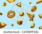 geometric 3d shape abstract... | Shutterstock .eps vector #1145899181